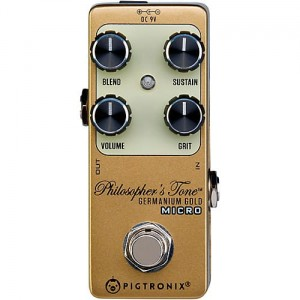 Pigtronix Philosopher Germanium Gold Compressor Micro Pedal