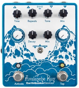 EarthQuaker Devices Avalanche Run Stereo Reverb & Delay w/ Tap Tempo v2 Pedal