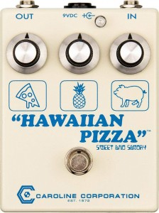 Caroline Guitar Co. Hawaiian Pizza Fuzz & Overdrive Pedal