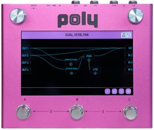 Poly Effects Digit Multi-FX Quad Delay, Reverb, Mixer & Cab Sim Processor