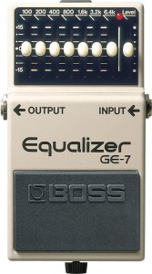Boss GE-7 Equalizer Pedal  (Incl. 1 Year Warranty)