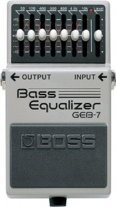 Boss GEB-7 Bass Equalizer Pedal (Incl. 1 Year Warranty)