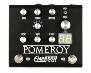 Emerson Custom Pomeroy Boost, Overdrive, Distortion Pedal (Black)