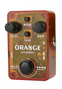 SKS Audio Musiwewe Orange Overdrive Guitar Effect Pedal