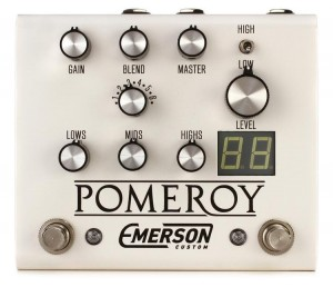 Emerson Custom Pomeroy Boost, Overdrive, Distortion Pedal (White)