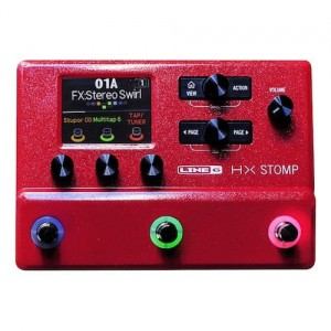 Line 6 HX Stomp LIMITED EDITION Red Multi-Effects Processor (Incl. 1 Year Warranty)