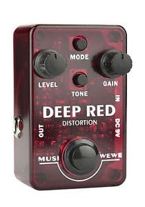 SKS Audio Musiwewe Deep Red Distortion Guitar Effect Pedal