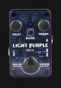 SKS Audio Musiwewe Light Purple Delay Guitar Effect Pedal