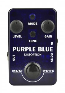 SKS Audio Musiwewe Purple Blue Distortion Guitar Effect Pedal