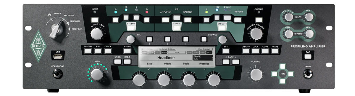 Kemper Profiling Amplifier Rack With Remote Stompbox In
