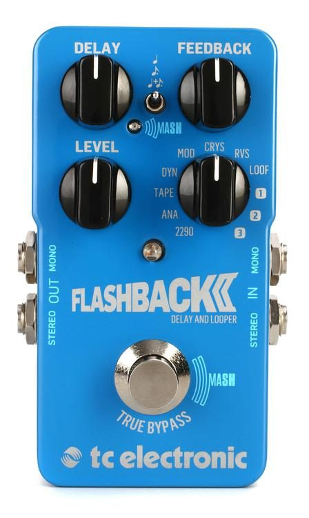 Tc Electronic Flashback 2 Delay Amp Looper Pedal Stompbox In